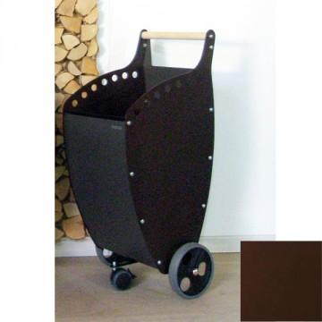 Trolley porta Legna/Pellet Superleggero con Pannelli colore ANTRACITE/RAME - PANDA