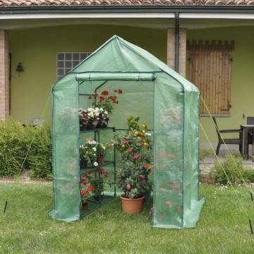 Serra Anemone per piante e fiori con ripiani 140 x 140 x h 195 cm - Serra ANEMONE VERDEMAX 2476