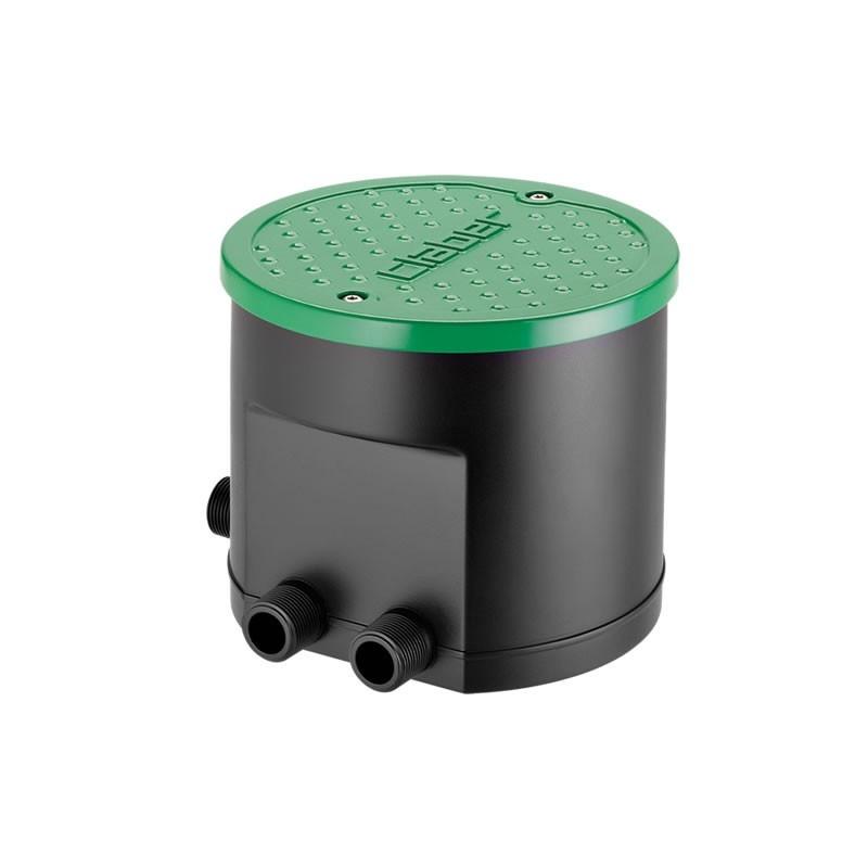 Pozzetto premontato integrato di programmatore a batterie for Programmatore irrigazione a batteria claber
