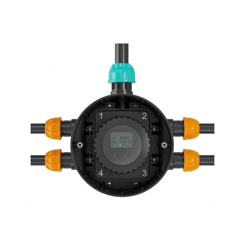 Pozzetto premontato integrato di programmatore a batterie for Claber hydro 4