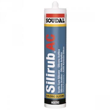 Sigillante siliconico acetico monocomponente - SOUDAL - Silirub AC - Bianco - 280 ml - 124103