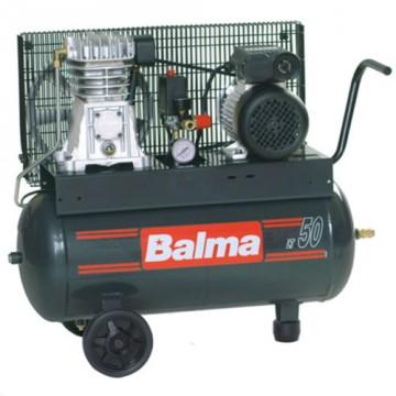 Compressore elettrico monostadio con trasmissione a cinghia 50 litri Balma NS12S/50 CM2 con ruote