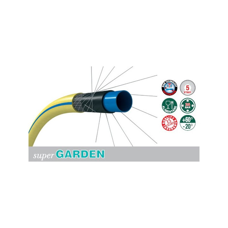 Tubo per irrigazione con rinforzo magliato super garden for Tubo giardino 5 8