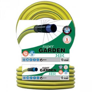 """Tubo per irrigazione con rinforzo magliato Super Garden - 25 metri - Diametro tubo 3/4"""" - RR ITALIA 441325"""