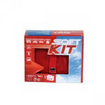 Soft Kit Pronto Soccorso borsetta in nylon di colore rosso con doppia cerniera - CPS820
