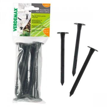 Chiodo fissatelo e ferma-film in plastica (conf. 10 pz) - VERDEMAX 4429