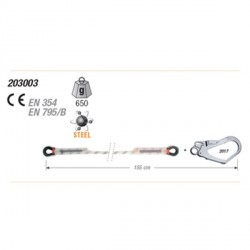 Cordino da 10.5 mm con Gancio - CAMP ROPE LANYARDS - 2030 03