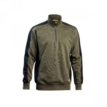 Felpa EAGLE mezza zip DIADORA UTILITY - ACTIVE Verde Militare Nero - 161156  C5770 7ad41a8c2e1