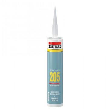 Sigillante Siliconico Neutro 205 - SOUDAL BASSO MODULO - Bianco Perla - 310 ml