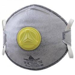 Maschera Facciale Filtrante Monouso FFP2 per Vapori Organici Con Valvola - DELTAPLUS M1200VW