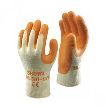 Guanto in Poliestere/Cotone rivestito in caucciù naturale SHOWA 310 Grip Orange