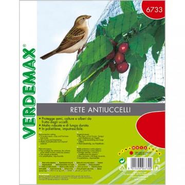 Rete antiuccelli confezione singola m 4 x 6 maglia mm 18x18 - VERDEMAX 6733