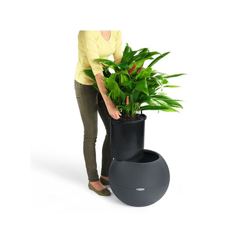 Vaso puro color 50 con sistema di auto irrigazione 50xh for Sistema di irrigazione per vasi