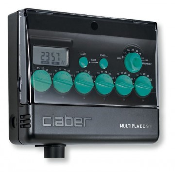 Programmatore multipla dc 9 v lcd 8060 claber for Programmatore irrigazione a batteria claber