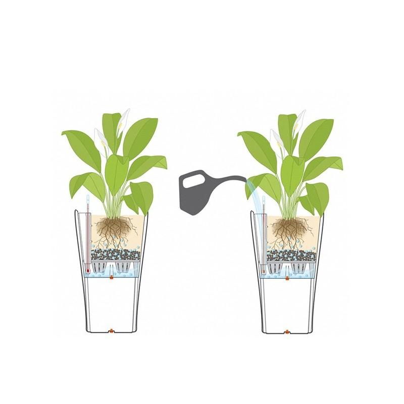 Vaso delta 40 con sistema di auto irrigazione for Sistema di irrigazione per vasi