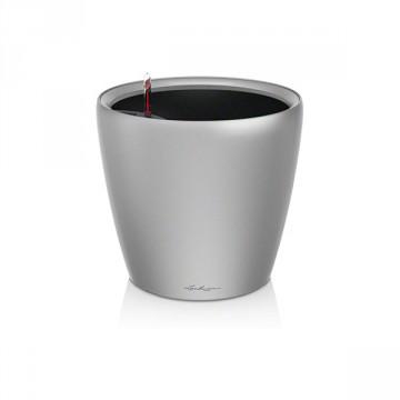 Vaso CLASSICO LS 21 con sistema di AUTO-IRRIGAZIONE - Bianco lucido ø 21 x h 20 cm - Materiale Plastico - LECHUZA