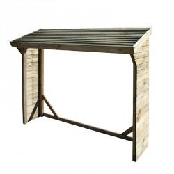 Legnaia da giardino in legno 217 x 80 x h max 180 - Pircher