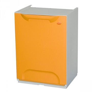 Mobiletto modulare in resina colore arancione per raccolta differenziata, secchio 20 lt dim. 47x34x29 - DOMUS - BIN.Y