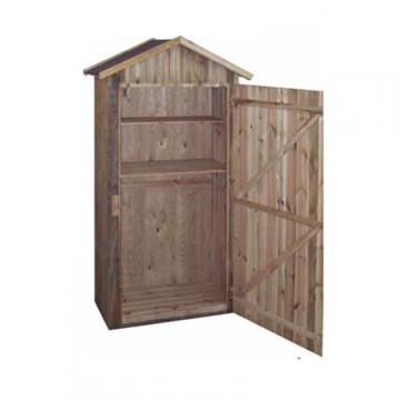 Armadio ripostiglio a pannelli in legno mm 900 x 480 x h - Ripostiglio in legno da giardino ...