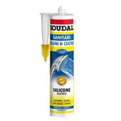 Sigillante Siliconico a base acetica per sanitari - SOUDAL - SOUDAL SANITARI colore trasparente