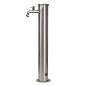 Fontanella in acciaio inox H. 85 x L. 16 x P. 30 cm - BEL FER 42/ARI - Inox AISI 316