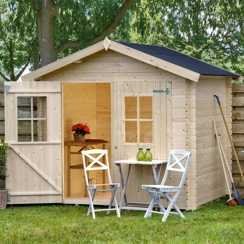Casetta da giardino in legno 238x238x227 h fina garten pro 1211822220 - Casette in legno da giardino prezzi ...