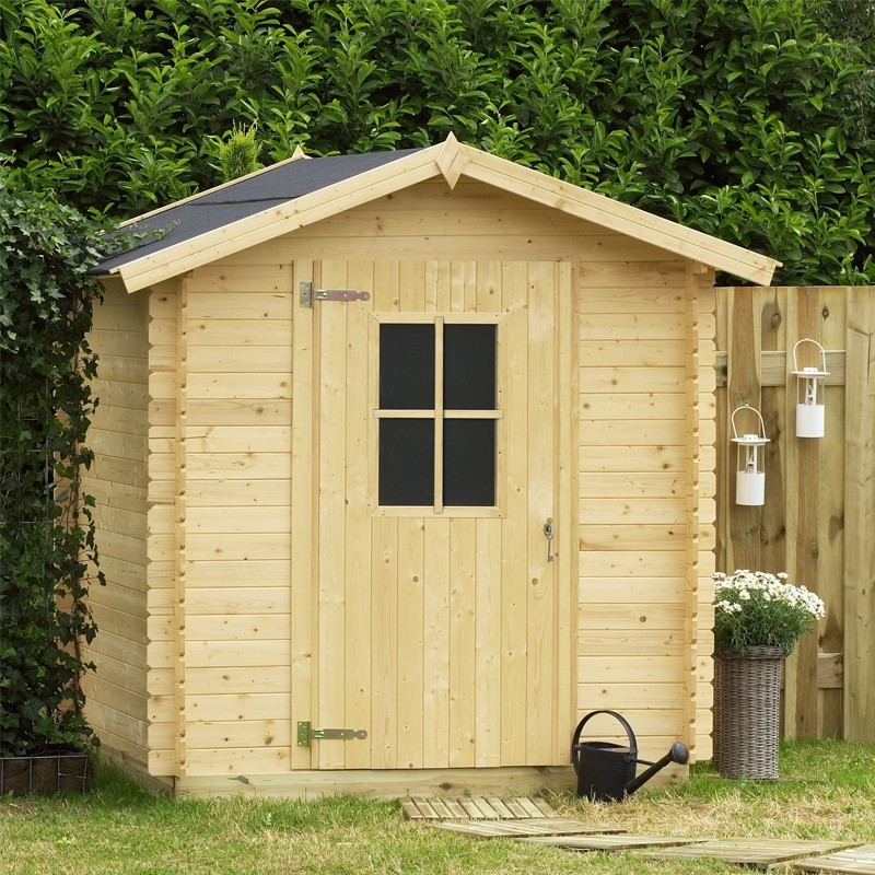 Casetta da giardino in legno 198x198x218 h londra for Casette in legno obi