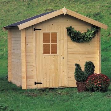 Casetta da giardino in legno 238x198x218 h cinzia - Casette di legno da giardino ikea ...