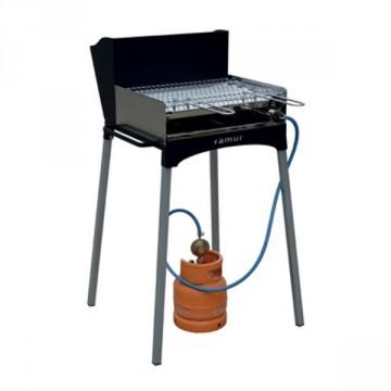 Barbecue Multiuso legna / carbonella e Gas con Gambe estraibili - FAMUR BK 6 ECO CAMPING GAS