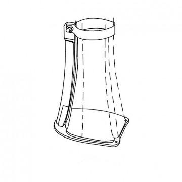 Staffa di fissaggio antivandalico e antifurto - Arkema D 120