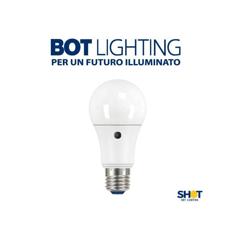 Lampada led con sensore crepuscolare 10 w 220 240v shot for Shot bot lighting