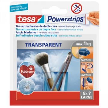Strisce Trasparenti per Fissaggi Max. 1 Kg - TESA - Powerstrips ® 58814