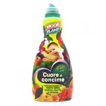 Concime liquido organico per piante verdi, fiorite, frutta e ortaggi conf. 1 Litro - Cuore di concime® VIGORPLANT 1216