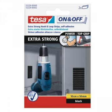 """Strisce Adesive Extra Forti - Riutilizzabile più di 1000 volte - """"On & Off"""" - Tesa 55228-0002"""