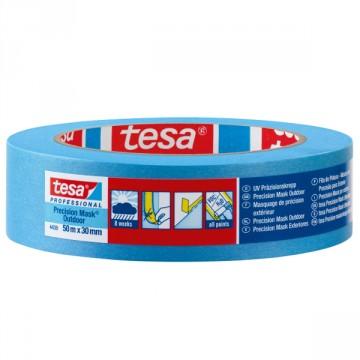 Nastro per mascheratura in carta robusta rivestito con adesivo acrilico - Precision Mask - Tesa 4439
