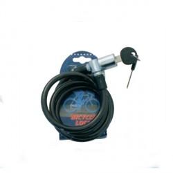 Lucchetto per cicli con cavo in acciaio, copertura in PVC e 2 chiavi - Linea Lions - SAFIT 608328