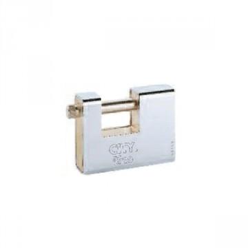 """Lucchetto 90 mm per serranda con 2 chiavi - ISEO """"Iustus Rettangolare"""" 804907"""