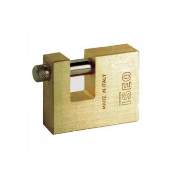 """Lucchetto 70 mm per serranda con 2 chiavi - ISEO """"Iustus Rettangolare"""" 804707"""
