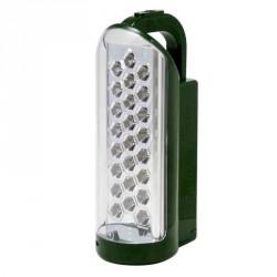 """Lampada a batteria ricaricabile 4V con 24 LED - LUCE QUADRA """"Sirio 24"""" E005"""