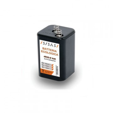 Batteria ecologica 6V 7Ah per Lampeggiatore da cantiere (art. 202000026) - SISAS S.P.A. 200300016