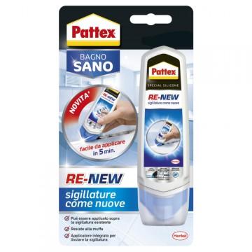 """Silicone a base d'acqua rinnova sigillature - Confezione 100 ml - Pattex """"Bagno Sano Re-New"""" - HENKEL 2045061"""