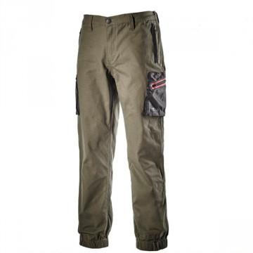 Pantalone Stretch Cuff Plus DIADORA UTILITY - Verde Foresta Notte - 170020 70167
