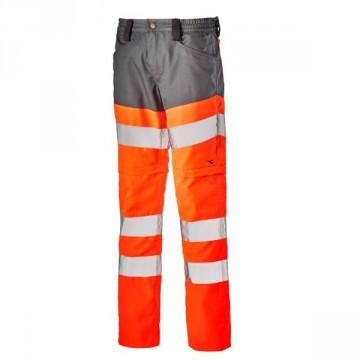 Pantalone Pant HV 3/1 altavisibilità DIADORA UTILITY - Arancione HV/Grigio Acciaio - 170686 C6190