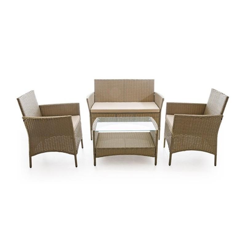 Salotto da giardino set caprera 2 poltrone tavolo divano for Poltrone giardino