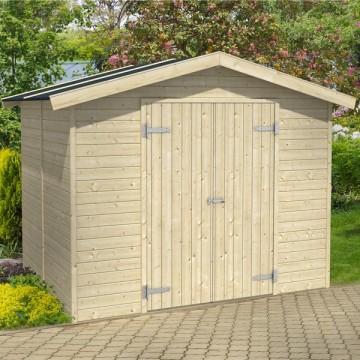 Casetta legno milan 59651642 h182 220 - Casetta in legno da giardino bianca ...