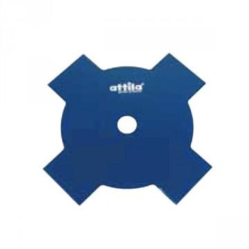 Disco decespugliatore 4 Denti per erba ATTILA Acciaio ∅ Lama 230 mm Foro 25,4 mm
