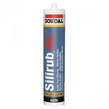 Sigillante siliconico acetico monocomponente di alta qualità Trasparente 310 ml - SILIRUB AC - SOUDAL - 112215