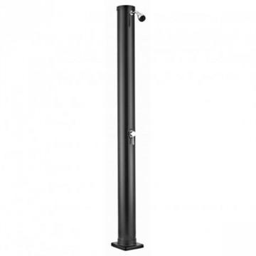 Doccia solare rotonda in PVC nero 38 Litri - con miscelatore - GRE AR1035