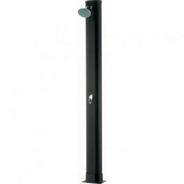 Doccia solare rotonda in PVC nero 30 Litri - con miscelatore - GRE AR1030
