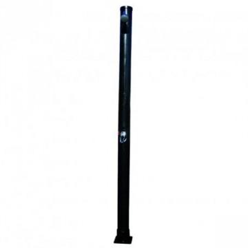 Doccia solare rotonda in PVC nero 20 Litri - con miscelatore - GRE 40664A